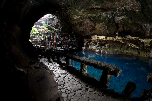 The entry to Jameos del Agua in Lanzarote leaves visitors whispering in quiet reverence for their natural surroundings.